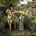 Boris Olshansky - Alyosha Popovich and Elena Krasa, 900 Classic russian paintings