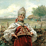900 Classic russian paintings - MAKOVSKY Constantine - At the entrance