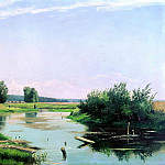 900 Classic russian paintings - Shishkin Ivan - Landscape with a lake