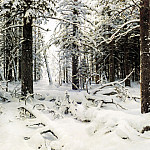 900 Classic russian paintings - Shishkin Ivan - Winter