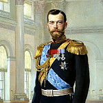 Lipgart Ernest - Portrait of Emperor Nicholas II, 900 Classic russian paintings