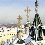 SVETOSLAVSKY Sergey - From the window of the Moscow School of Painting, Sculpture and Architecture, 900 Classic russian paintings