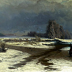 Fedor Vasiliev - Thaw, 900 Classic russian paintings