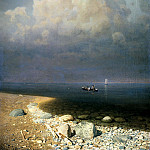 Kuindzhi Arkhip - Lake Ladoga, 900 Classic russian paintings