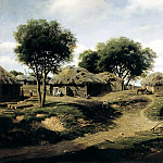 900 Classic russian paintings - Klodt Mikhail (K.) - The village in the province of Orel. 1864