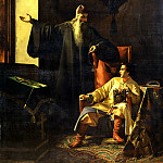 900 Classic russian paintings - Pleshanov Paul - Tsar Ivan the Terrible and Fr Sylvester during the great fire in Moscow 24 June 1547