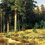 Shishkin Ivan - Naval grove, 900 Classic russian paintings