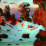 900 Classic russian paintings - Kuindzhi Arkhip - The effect of sunset