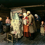 900 Classic russian paintings - KOROVIN Peter - Christening
