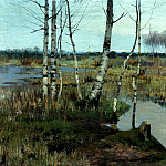 Richard Bergholz - Spring landscape, 900 Classic russian paintings