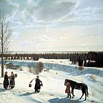 KRYLOV Nicephorus - Winter landscape. Russian winter, 900 Classic russian paintings