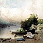 Meshchersky Arseny - On the River, 900 Classic russian paintings