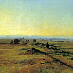 900 Classic russian paintings - Ivan Alexander - Via Appia at sunset