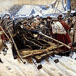 900 Classic russian paintings - Surikov Vasily - Boyarynya Morozov