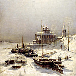 Bogolyubov Alexey - Winter in Borisoglebsk, 900 Classic russian paintings