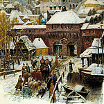 900 Classic russian paintings - Vasnetsov Apollinary - Moscow. Late XVII century