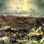 900 Classic russian paintings - Kotzebue Alexander - Moving troops Suvorov Crossing the St. Gotthard September 13, 1799