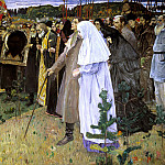 900 Classic russian paintings - Nesterov Mikhail - In Russia. Soul People