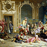 900 Classic russian paintings - YAACOBI Valery - jesters at the court of Empress Anna Ivanovna