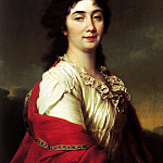 Portrait of Anna Ste Protasov, the former chamber-maids of honor of Catherine II, Dmitry Levitsky (Levitzky)