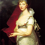 Monnier Jean Laurent - Portrait of Empress Elizabeth Alekseyevna. 1807, 900 Classic russian paintings