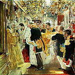 900 Classic russian paintings - Valentin Serov - Confirmation of Emperor Nicholas Alexandrovich
