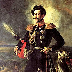 900 Classic russian paintings - BRYULLOV Karl - Portrait of General-adjutant Count Vasily Alekseevich Perovski. 1837