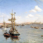 900 Classic russian paintings - Beggrov Alexander - St. Petersburg. View of the Neva