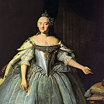 900 Classic russian paintings - Vishnjakov Ivan - Portrait of Empress Elizabeth