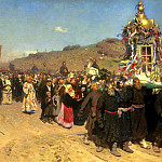 900 Classic russian paintings - Ilya Repin - Religious Procession in Kursk Province