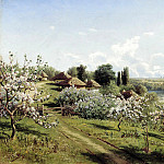900 Classic russian paintings - SERGEEV Nick - Apple trees in bloom. In Ukraine