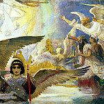 900 Classic russian paintings - Viktor Vasnetsov - Joy of the Lord the righteous (affects the central part)