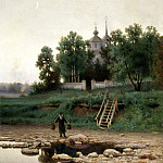 900 Classic russian paintings - VOLKOV Yefim - the monastery