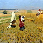 Pimonenko Nick - Harvest in Ukraine, 900 Classic russian paintings