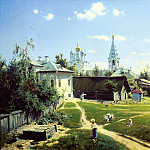 900 Classic russian paintings - Polenov Vasily - Moscow Yard