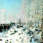 900 Classic russian paintings - Vereshchagin Vasily (Vasilyevich) - On the high road. Retreat and escape
