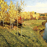 900 Classic russian paintings - Isaak Levitan - Golden Autumn
