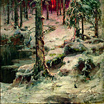 900 Classic russian paintings - Klever Julius - Winter. Pinery