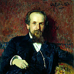 900 Classic russian paintings - Ilya Repin - Portrait of Pavel Chistyakov