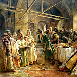 900 Classic russian paintings - MAKOVSKY Constantine - Kissing ceremony