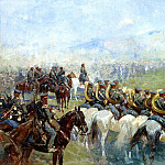 900 Classic russian paintings - Franz Roubaud - Review of troops by Alexander III