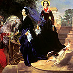 900 Classic russian paintings - BRYULLOV Karl - Portrait of sisters Shishmareva