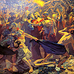 900 Classic russian paintings - Pavel Popov - Taking Christ into custody