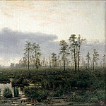 900 Classic russian paintings - Menke Vladimir - Morning on the marsh