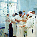 Pavlov in the operating room, Ilya Repin
