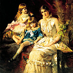 MAKOVSKY Constantine – Family portrait, 900 Classic russian paintings