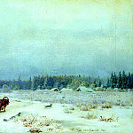 Brick Leo - Winter road, 900 Classic russian paintings