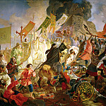 900 Classic russian paintings - BRYULLOV Carl - The Siege of Pskov, the Polish King Stephen Bathory in 1581