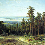 Shishkin Ivan - Kama near Yelabuga, 900 Classic russian paintings