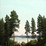 Meshchersky Arseny - Landscape with a lake, 900 Classic russian paintings